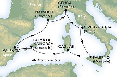 Szicília, Szardínia és Mallorca - MSC Splendida