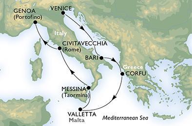 MSC MAGNIFICA - Olaszország, Görögország és Málta