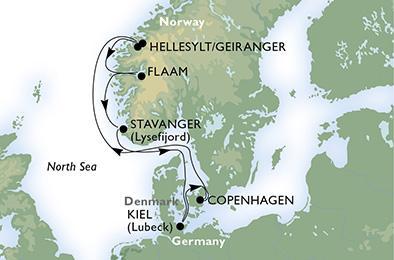MSC MUSICA - A norvég fjordok világa