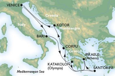 MSC ORCHESTRA - Olaszország, Görögország és Montenegró