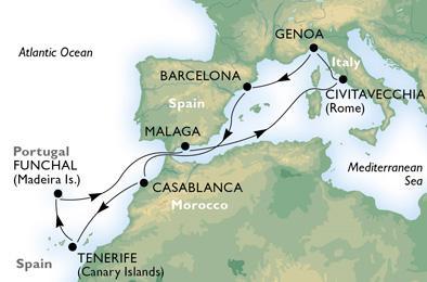 Kanári-szigetek és Madeira az őszi szünet alatt - csoportos hajóút magyar idegenvezetővel, repülővel - MSC Musica