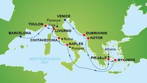 NCL Spirit - Spanyolország, Franciaország, Olaszország, Görögország, Törökország