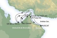 MSC Fantasia - Az Egyesült Arab Emirátusok és Omán