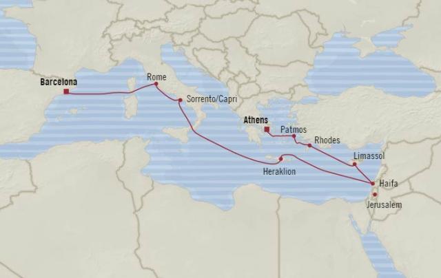 Oceania Nautica - Ősi sziluettek nyomában Athéntól Barcelonáig