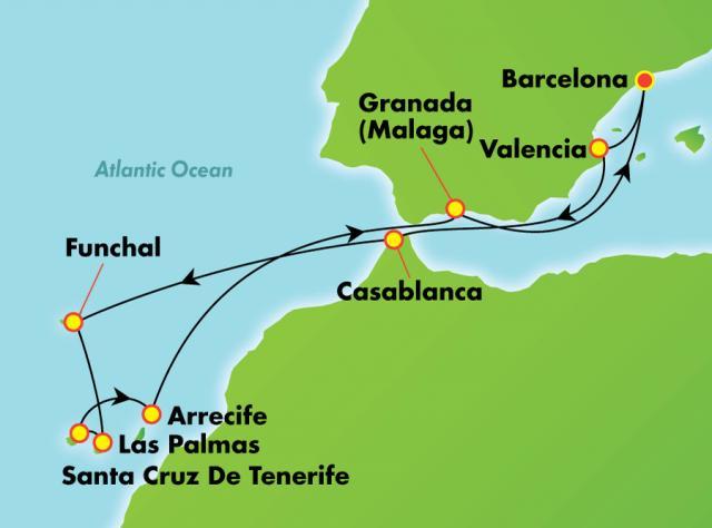 NCL Spirit - Kanári-szigetek, Spanyolország és Marokkó